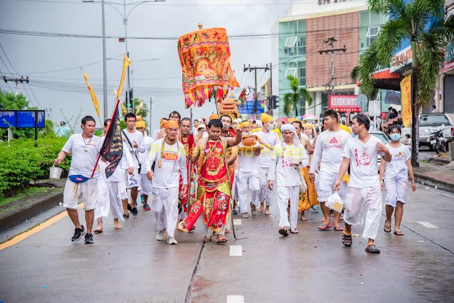 First Parade of the 2016 Phuket Vegetarian Festival
