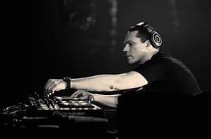 Tiesto working the decks