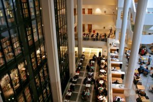 PICTURE of the Kings Library at the British Library