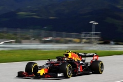 SPIELBERG, AUSTRIA - JULY 12: Alexander Albon of Thailand driving the (23) Aston Martin Red Bull Racing RB16 on track during the Formula One Grand Prix of Styria at Red Bull Ring on July 12, 2020 in Spielberg, Austria. (Photo by Mark Thompson/Getty Images)