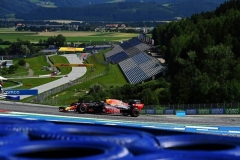 SPIELBERG, AUSTRIA - JULY 05: Alexander Albon of Thailand driving the (23) Aston Martin Red Bull Racing RB16 on track during the Formula One Grand Prix of Austria at Red Bull Ring on July 05, 2020 in Spielberg, Austria. (Photo by Joe Klamar/Pool via Getty Images)