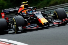 Alexander Albon of Thailand driving the (23) Aston Martin Red Bull Racing RB16 on track during the Formula One Grand Prix of Hungary at Hungaroring on July 19, 2020 in Budapest, Hungary. (Photo by Darko Bandic/Pool via Getty Images)