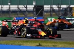 NORTHAMPTON, ENGLAND - AUGUST 09: Alexander Albon of Thailand driving the (23) Aston Martin Red Bull Racing RB16 on track during the F1 70th Anniversary Grand Prix at Silverstone on August 09, 2020 in Northampton, England. (Photo by Ben Stansall/Pool via Getty Images)