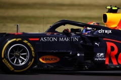 NORTHAMPTON, ENGLAND - AUGUST 02: Alexander Albon of Thailand driving the (23) Aston Martin Red Bull Racing RB16 on track during the F1 Grand Prix of Great Britain at Silverstone on August 02, 2020 in Northampton, England. (Photo by Bryn Lennon/Getty Images)