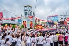 Second parade of the Phuket Vegetarian Festival in Phuket Town