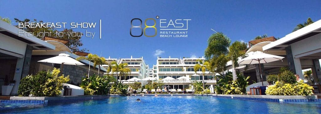 East 88 Restaurant and Beach Lounge Breakfast Show Banner