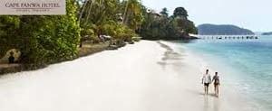 the Beach at Cape Panwa Hotel, Cape Panwa, Phuket.