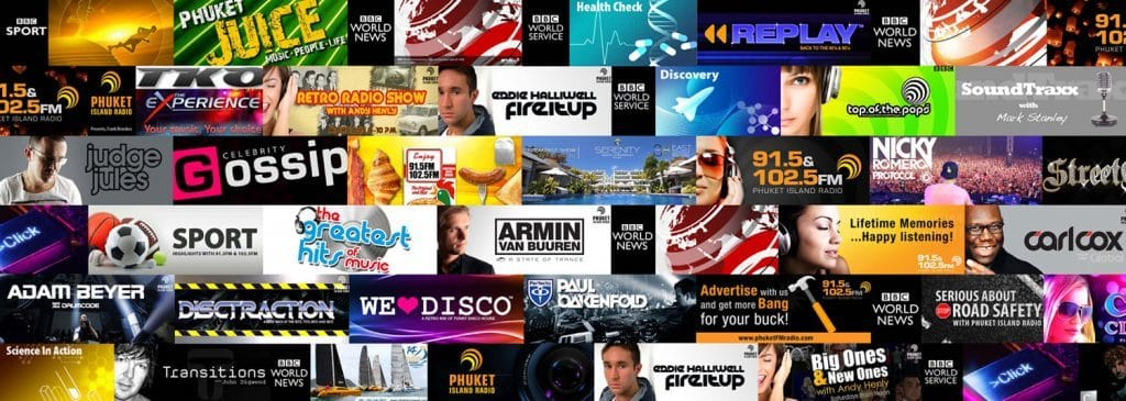 About us, the stellar line up of shows at Phuket Island Radio
