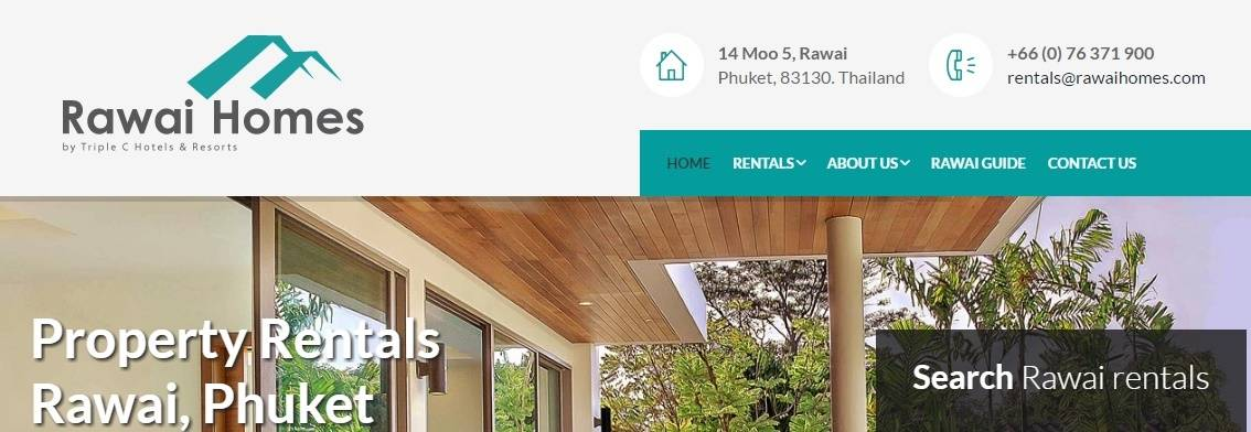 Rawai Homes website image