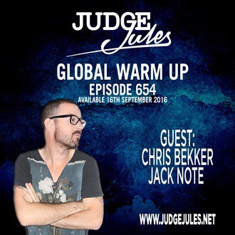 Global Warm Up Judge Jules show 654 banner