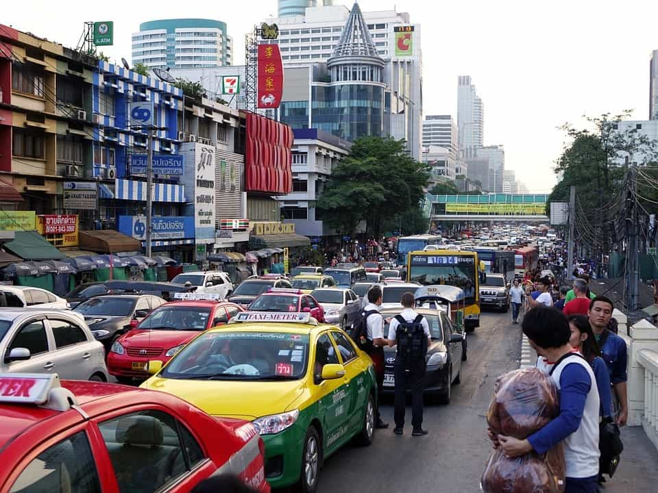 What makes a traffic jam Bangkok traffic