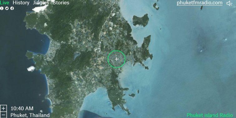 Phuket Island Google map of Garden radio