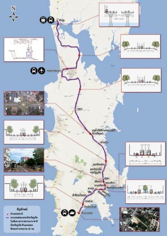 Phuket tram route map