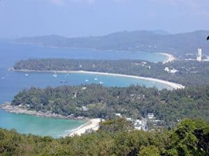 Viewpoint looking at Kata beach