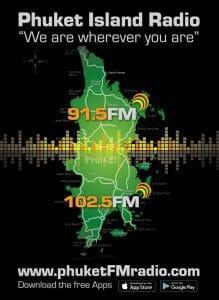 91.5 FM & 102.5 FM Phuket Radio Player map
