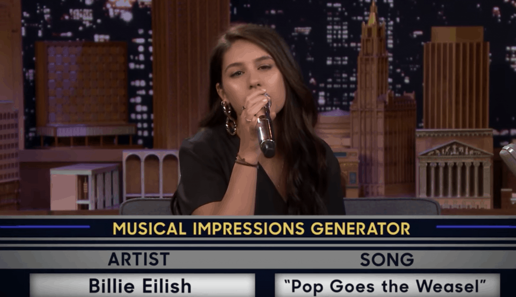 Alessia Cara Mimics Billie Eilish on 'Fallon'
