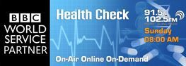 BBC Health Check logo for Phuket Radio shows